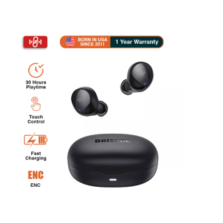 Boltune BT-BH021,Wireless Earbuds, Boltune Bluetooth V5.0 with 4 Mics Super Lightweight Bluetooth Earbuds, CVC 8.0 Stereo Sound Deep Bass, IPX8 Waterproof in-Ear Headphones Single Twin Mode for iPhone Android thumbnail