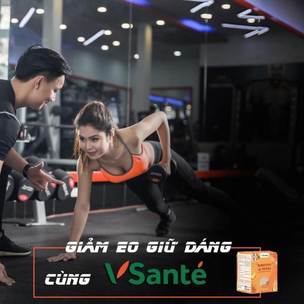 Combo 02 hộp Thực phẩm cho người tập GYM tăng cơ, giảm mỡ - Bữa ăn cân bằng Vsanté [Vị Đào] nhập khẩu