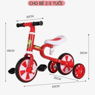Xe đạp trẻ em,Xe chòi chân thăng bằng Motion có bàn đạp 3 bánh dành cho bé 2 đến 5 tuổi thumbnail