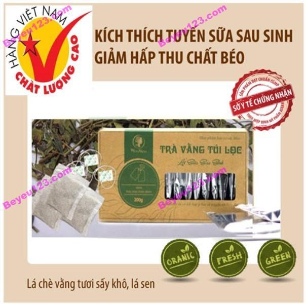 Hộp 20 túi trà vằng túi lọc lợi sữa, giảm mỡ bụng 40g - Wonmom (Việt Nam)