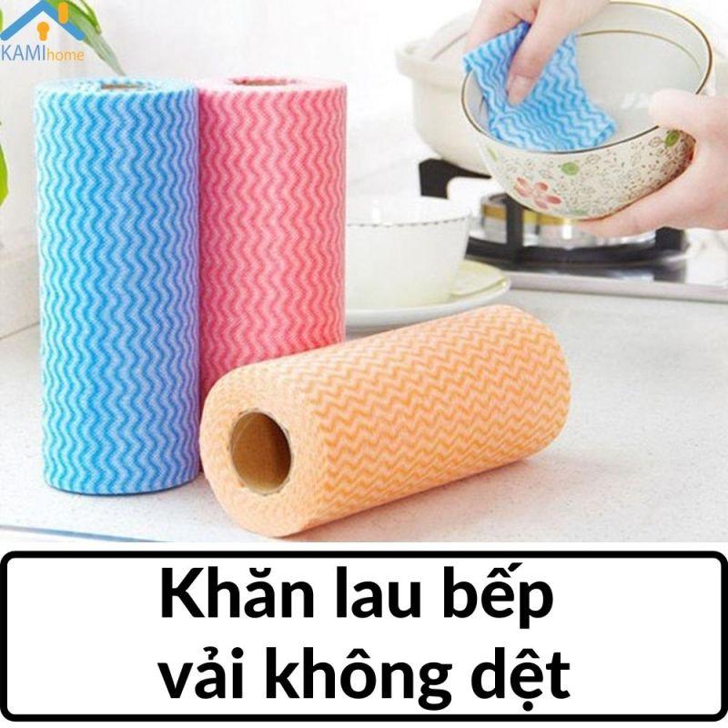 Khăn lau bếp vải không dệt đa năng gồm 50 tờ có thể dùng trong nước mã 70017