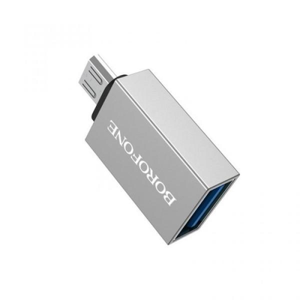 Bảng giá Cáp chuyển dữ liệu OTG chuôi micro, Đầu chuyển borofone BV2 OTG USB sang Micro, Đầu Cáp Chuyển OTG BOROFONE BV2 USB-A Sang Micro USB Phong Vũ