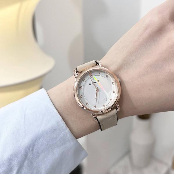 Đồng hồ nữ Doukou dây da thời trang mềm mại ôm tay