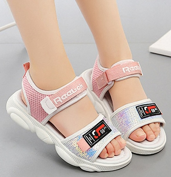 Giá bán Dép sandal bé gái êm chân đi học , đi chơi xinh xắn 4 - 14 tuổi - SA89