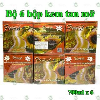 Bộ 6 hộp kem tan mỡ bụng gừng ớt Flourish Thái Lan (700ml x 6) giúp đánh tan mỡ hiệu quả, làm săn chắc vùng bụng, hông, eo, mông và đùi, cho dáng vóc luôn gọn gàng hơn thumbnail