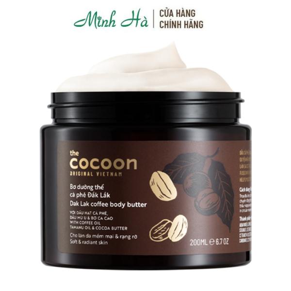 Bơ dưỡng thể cà phê Dak Lak coffee body butter The Cocoon 200ml cho làn da mềm mại và rạng rỡ cao cấp
