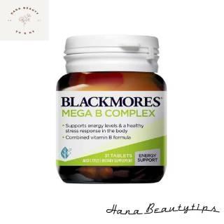 [ Hàng Chính Hãng Úc ] Viên uống bổ sung vitamin nhóm b Blackmores mega B complex 31 viên và 75 viên của Úc thumbnail