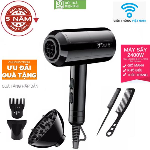 ( Hàng Cao Cấp ) Máy sấy tóc gió 2 chiều nóng lạnh DELIYA 2400w-Phù hợp mọi kiểu tóc Tặng kèm 5 sản phẩm, máy sấy tóc, máy sấy tóc công suất lớn, máy sấy tóc mini, máy sấy tóc tạo kiểu, Máy Sấy Tóc 2 Chiều cao cấp