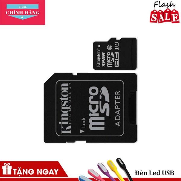 Thẻ nhớ micro SDHC Kingston 32GB class 10 kèm Adapter tặng đầu đọc thẻ (ngẫu nhiên)