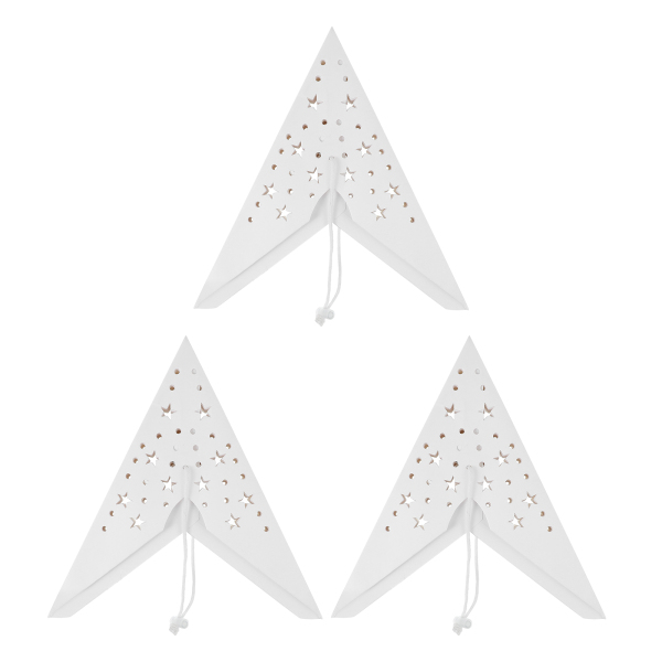 Bảng giá Ouruola【Ready Stock】Mobestech 3pcs 35cm 9 Pointed Paper Star Lanterns Hanging Lampshades For Christmas Wedding Birthday PartyDecorations (White)