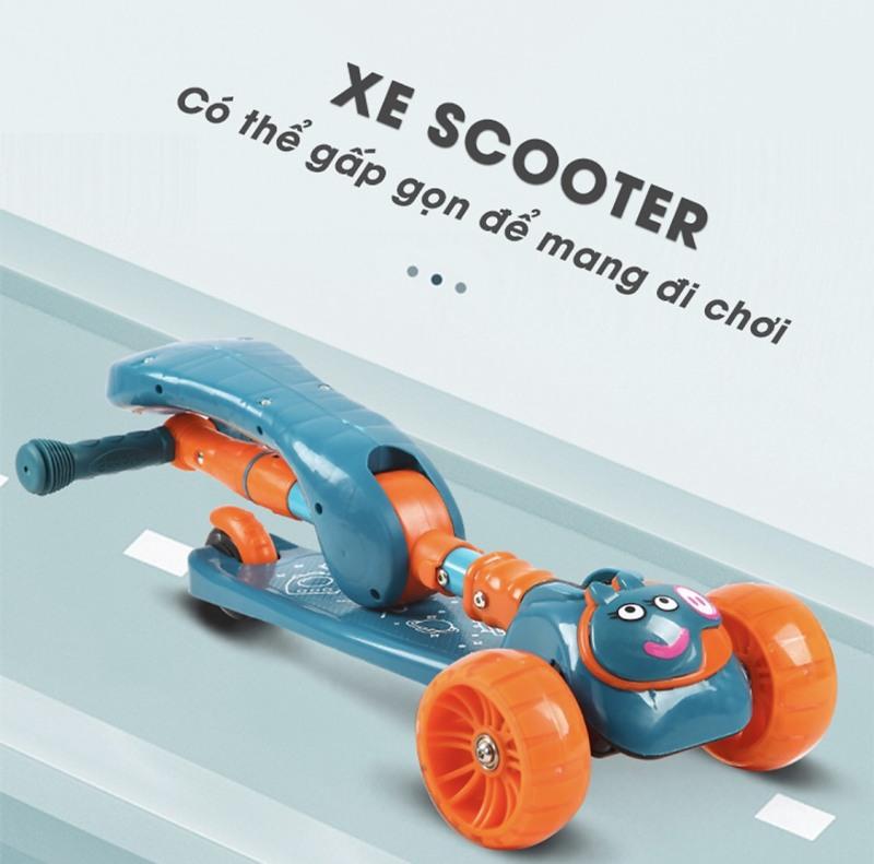 Mua Xe trượt Scooter hình heo peppa có đèn 3 bánh và nhạc