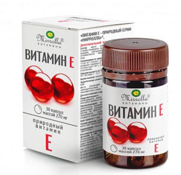 Viên Uống Trắng Da Vitamin E Đỏ Của Nga Mirrolla (Hộp 30 viên)
