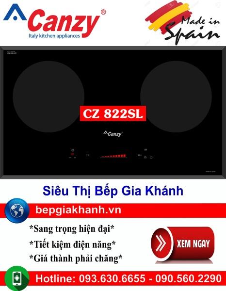 Bếp từ đôi Canzy CZ 822SL nhập khẩu Tây Ban Nha, bếp từ, bếp điện từ, bếp từ đôi, bếp điện từ đôi, bếp từ giá rẻ, bếp điện từ giá rẻ, bếp từ đơn, bep tu don, bep tu