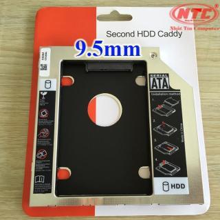 Caddy Bay mỏng 9.5mm chuẩn SATA 3 lắp HDD SSD thay vào ổ DVD trên laptop (bạc) - Nhất Tín Computer thumbnail