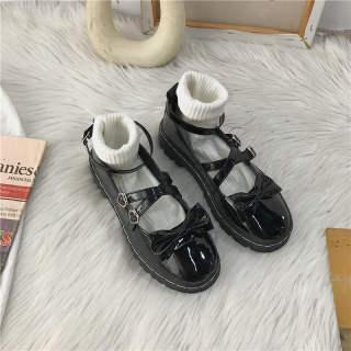 PFS949 Lolita Mùa Thu Mới Nhật Bản Jk Giày Da Nhỏ Nữ Mùa Hè Phiên Bản Hàn Quốc Cho Học Sinh Của Đế Bệt Mềm Hoang Dã Em Gái Mary Jane Giày