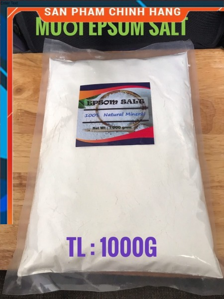 1kg-Muối Epsom Salt (MgSO4 Bột Nhiễn)#gói 1kg