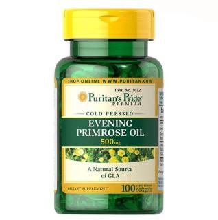 Dầu hoa anh thảo 500mg tăng cường nội tiết nữ, đẹp da, hạ huyết áp, mỡ máu Evening Primrose Oil 500mg 100 viên nang thumbnail
