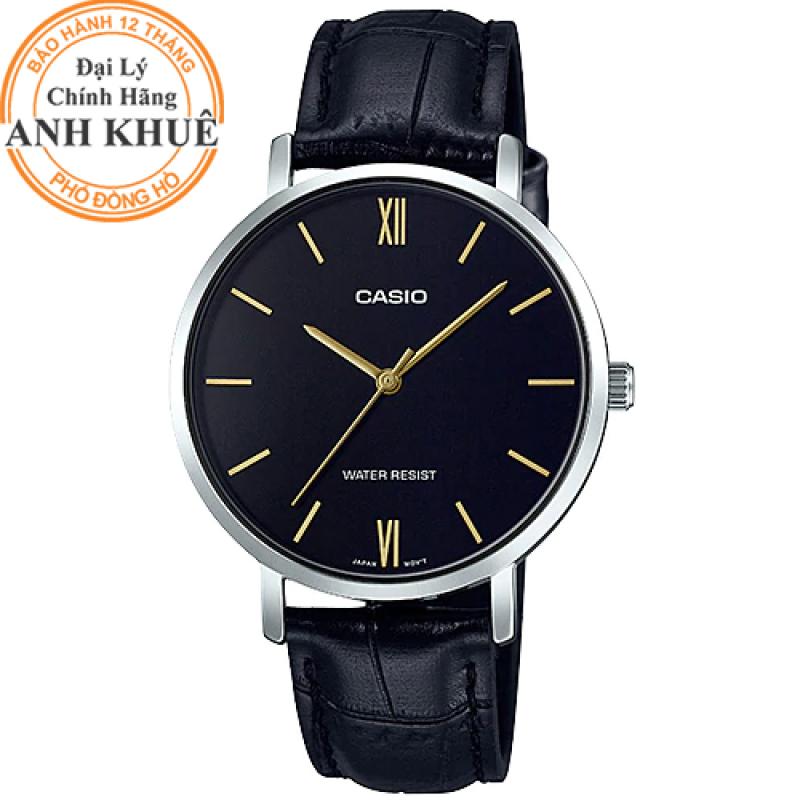 Đồng hồ nữ dây da Casio Anh Khuê LTP-VT01L-1BUDF