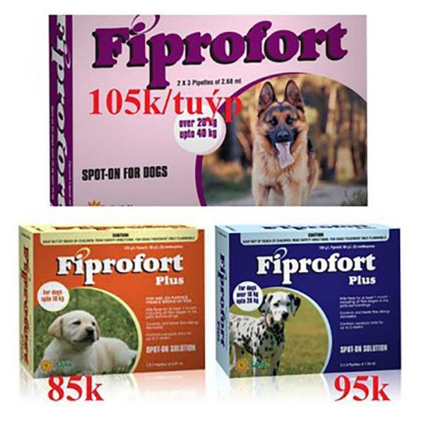 [1 Ống] Trị ve rận Nhỏ Gáy Fiprofort Plus Trị bọ trét ve rận - Cutepets