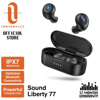 Tai Nghe Bluetooth Không Dây TT-BH077 TaoTronics, Tai Nghe 5.0 SoundLiberty 77, IPX7 Âm Thanh Nổi Hi-Fi Chống Nước Mở Để Ghép Nối Miễn Phí Để Chuyển Chế Độ Đơn Đôi Với Thời Gian Phát 20 Giờ thumbnail
