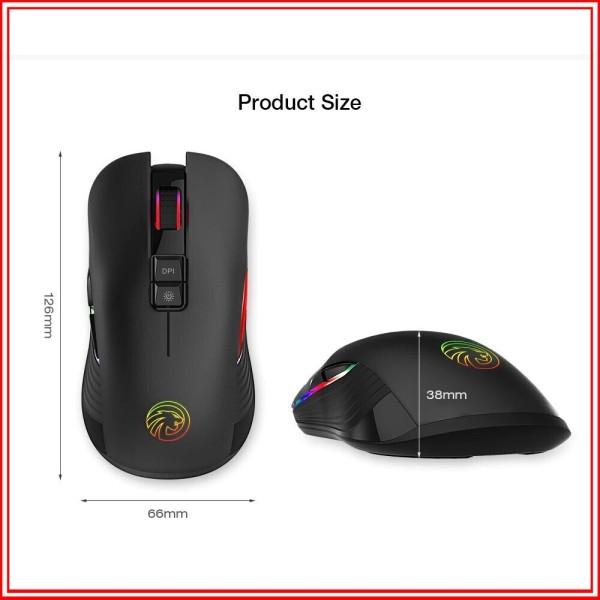 Bảng giá Chuột chuyên game Fmouse M600 led 7 màu không dây sử dụng pin sạc cam kết sản phẩm đúng mô tả chất lượng đảm bảo Phong Vũ