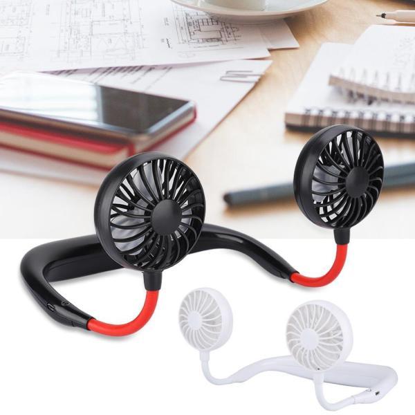 Quạt USB cầm tay mini đeo cổ dành cho người lười hoặc tập GYM