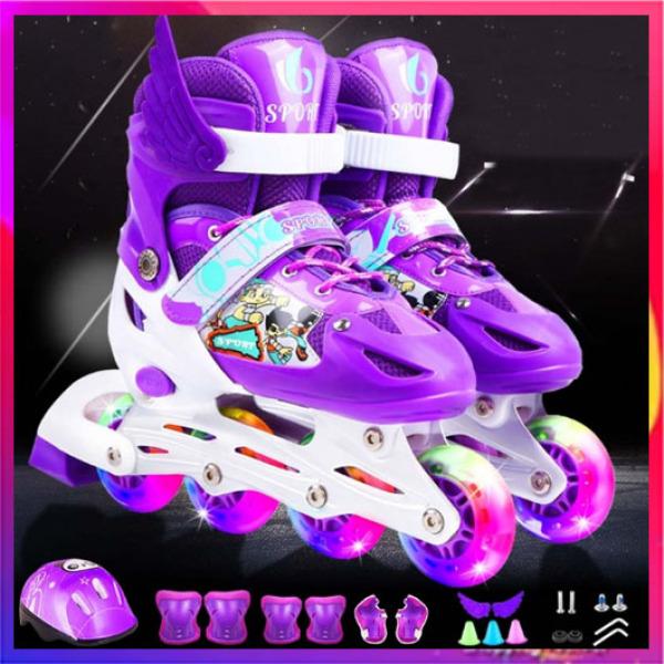 Giá bán Giầy trượt patin Abc đèn trước kèm phụ kiện bảo vệ chân tay