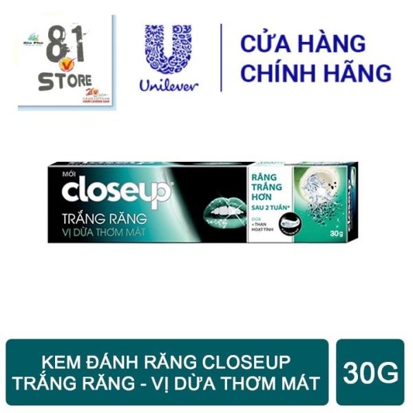 Kem đánh răng dạng GEL Closeup Trắng Răng Tự Nhiên Vị Dừa Thơm Mát 30g giá rẻ