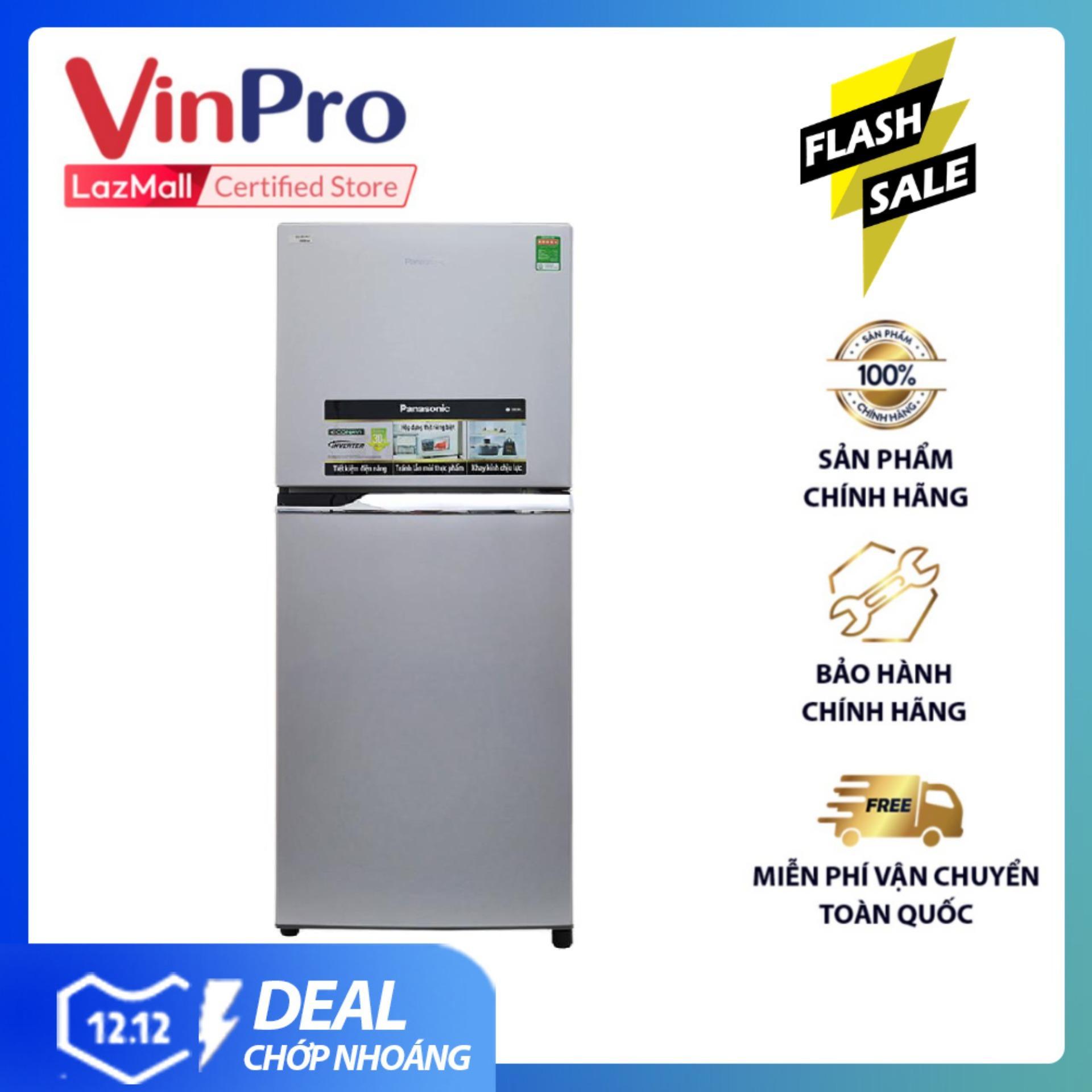 Voucher tại Lazada cho Tủ Lạnh Panasonic Inverter NR-BL267VSV1 - 234L (Bạc) - Tiết Kiệm điện, Vận Hành Bền Bỉ - Bảo Hành 12 Tháng -  Hàng Chính Hãng
