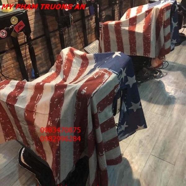 Khăn choàng cắt tóc cờ Mỹ USA cho barbershop