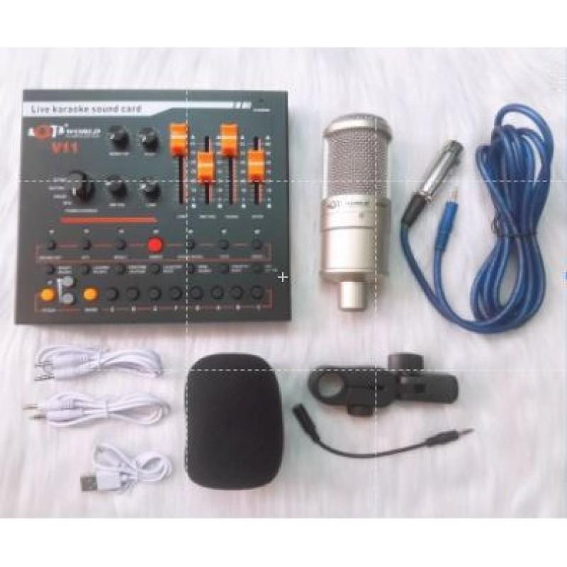 Bộ thu âm Livestream V11 và AQTA 220