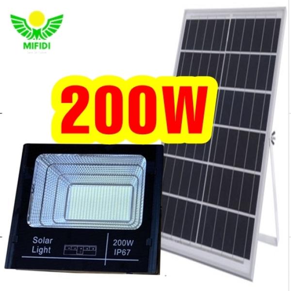 Bảng giá Đèn Năng Lượng Mặt Trời 200W Có LED Báo Pin 25.000mah, Bh đến 3 Năm