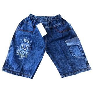 [Ảnh thật] Quần jean lửng phối túi lớn VNXK size từ 21-37kg bé trai chất vải jean mềm co giãn bận nhà, đi chơi, dạo phố thumbnail