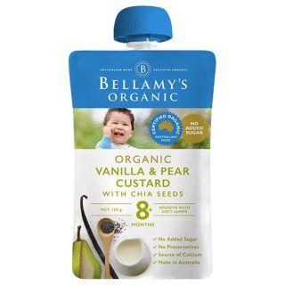 Trái cây xay nhuyễn Kem Sữa Lê Và Hạt Chia Với Chiết Xuất Vanilla Hữu Cơ Bellamy s Organic thumbnail