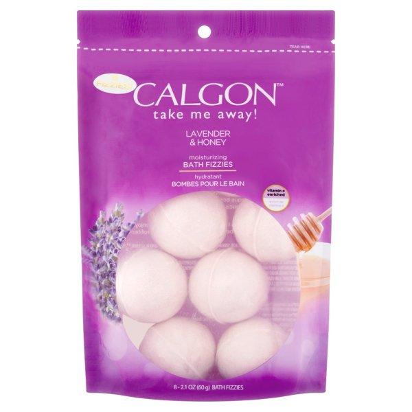 Bom tắm Calgon Moisturizing Bath Fizzies, Lavender & Honey, 8 viên bill Walmart Mỹ giá rẻ
