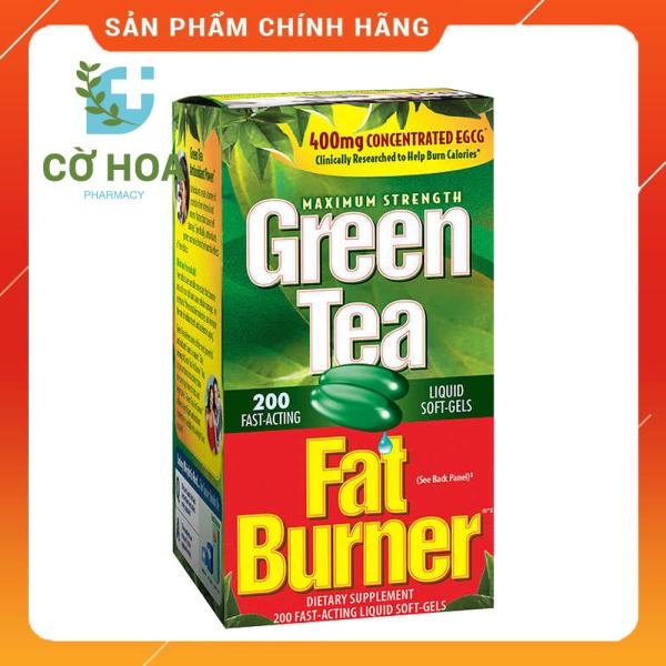 Giảm mỡ bụng Green Tea Fat Burner - Hộp 200 viên cao cấp