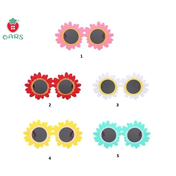 Giá bán Kính cho bé ❤️ Kiếng cho trẻ em khung hoa mặt trời dễ thương chống tia UV MÀU đỏ trắng xanh vàng hồng