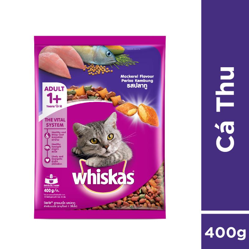 Thức ăn cho mèo Whiskas vị cá thu túi 400g
