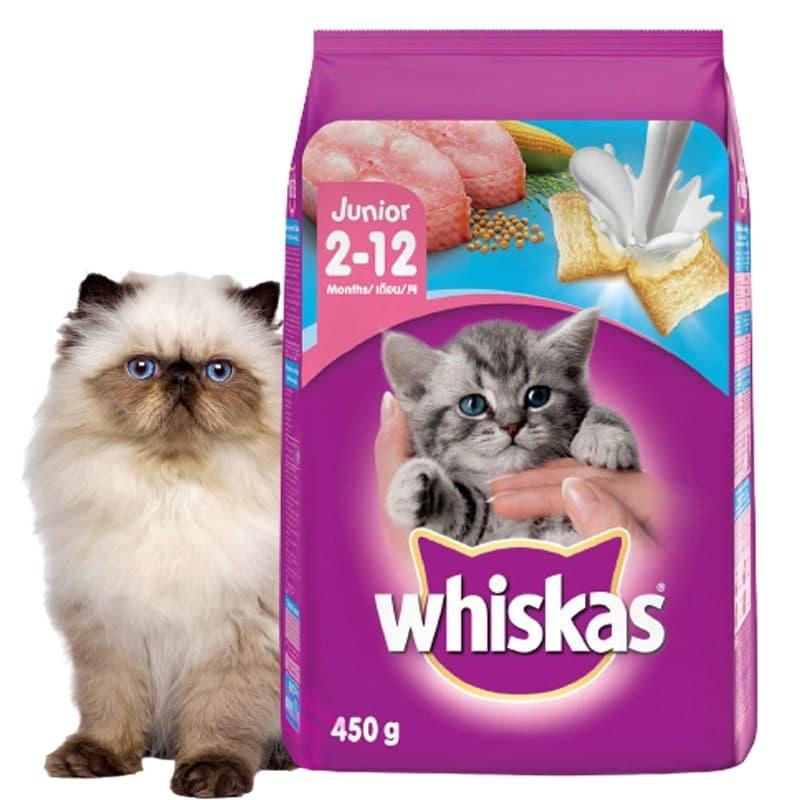 [HCM]Thức Ăn Hạt Cho Mèo Con Whiskas Junior 450G