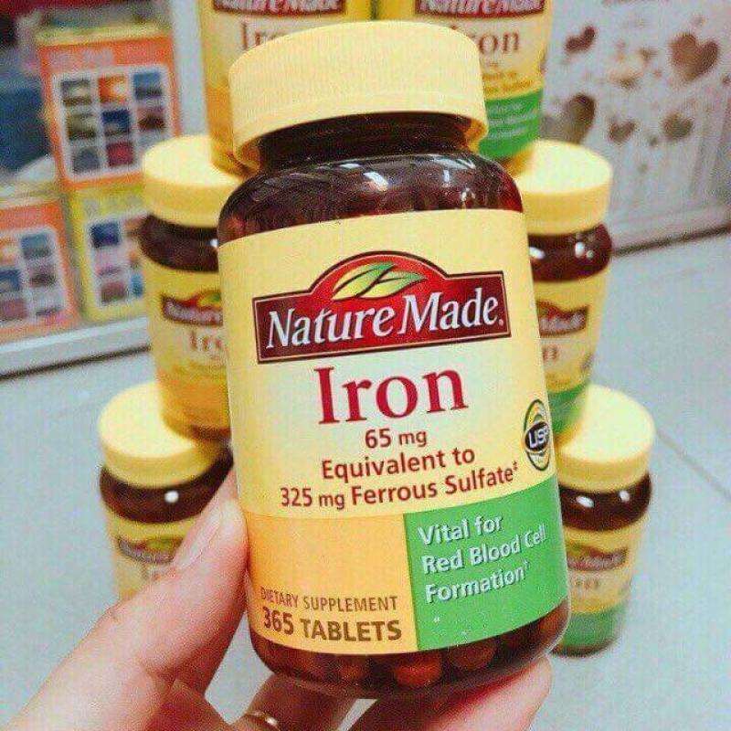 Viên Uống Bổ Sung Sắt Iron 65mg Nature Made 365 Viên Của Mỹ cao cấp
