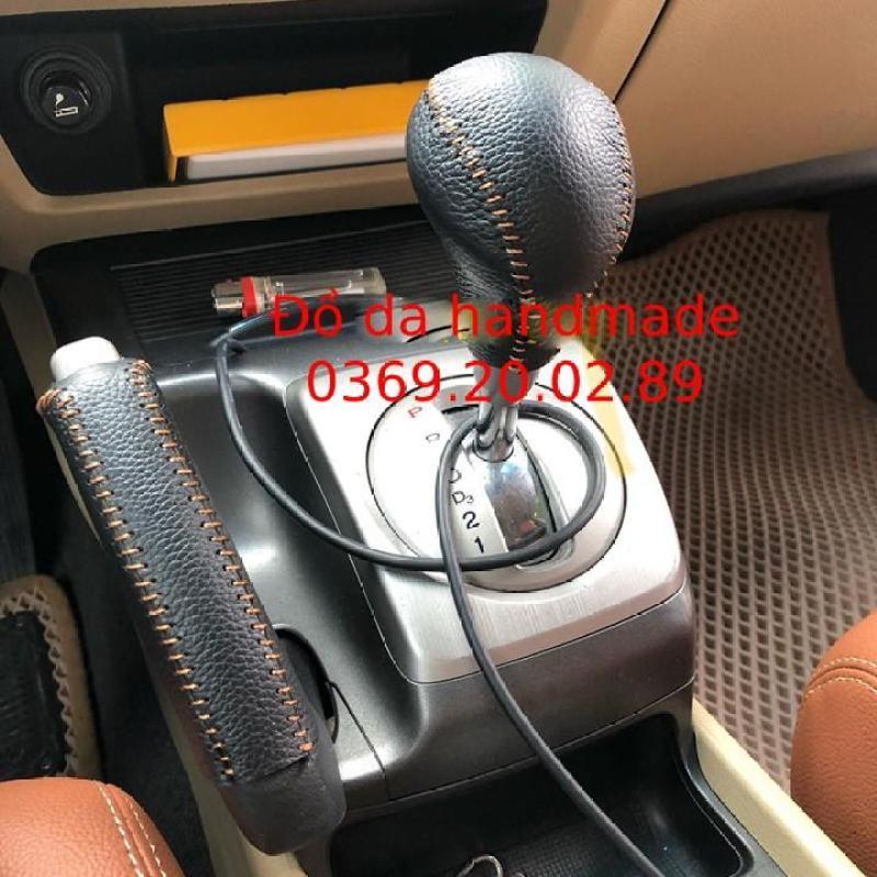 Bọc Cần số & Phanh tay các đời xe Honda Civic da bò thật handmade