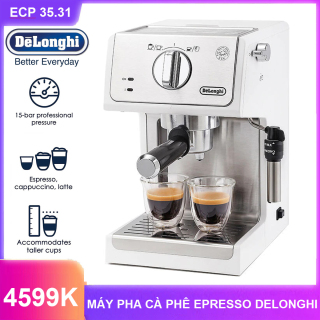 MÁY PHA CÀ PHÊ DELONGHI ECP 35.31 36.31 - Thiết kế cao cấp - Tích hợp hệ thống vòi hơi - Hệ thống kiểm soát nhiệt riêng biệt hiện đại - Máy pha cà phê ITALIA, Espresso thương hiệu cao cấp Delonghi-ECP35.31 36.31-Dung tích 1.1L - 1100W thumbnail