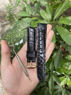 [KV01] Dây đồng hồ da cá sấu KHÓA VÀNG, HA T TRO N,phát hiện giả ĐỀN 10 LẦN TIỀN,TẶNG KÈM cây tháo lắp dây, dây đồng hồ da cá sấu nam, dây đồng hồ da cá sấu nữ thumbnail
