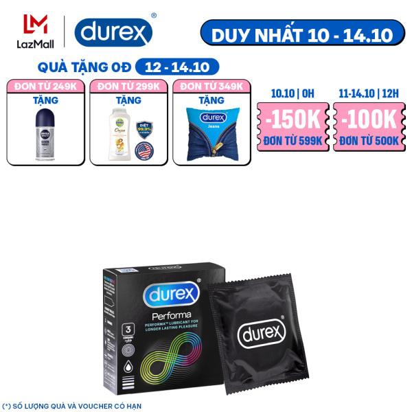 Bao cao su Durex Performa 3 bao (New)