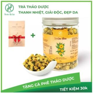 [TẶNG GÓI CAFE THẢO DƯỢC 15G] Trà Hoa Cúc thải độc mát gan Herbio - nguyên nụ 50g - giảm cân , giảm mụn hiệu quả thumbnail