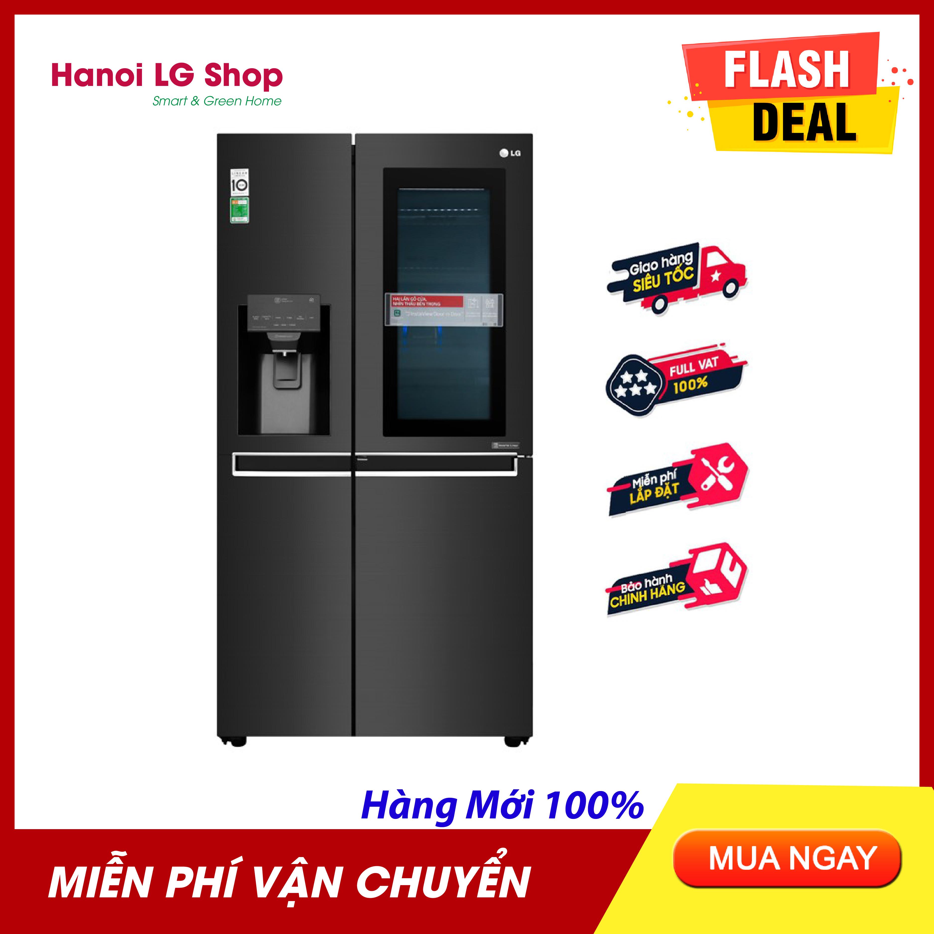 [HÀNG CÓ SẴN] Tủ Lạnh LG Inverter InstaView Door-in-Door 601 Lít GR-X247MC Siêu Khuyến Mại