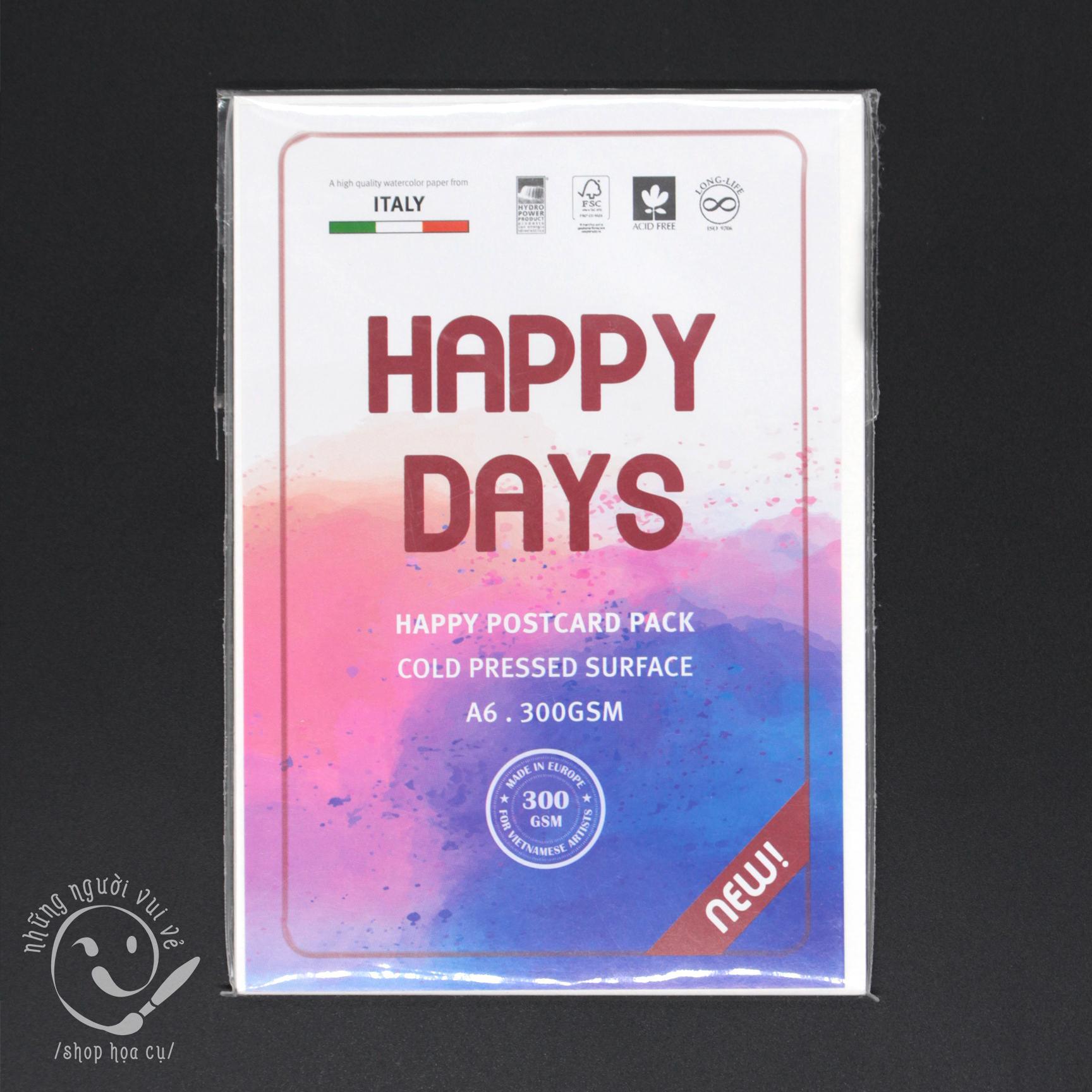 Mua Xấp giấy Happy dạng postcard