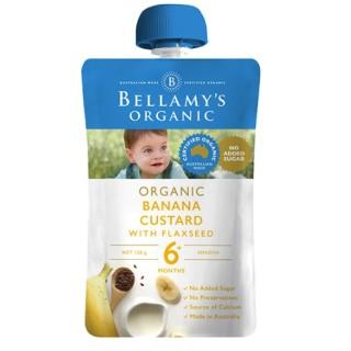 Trái cây xay nhuyễn Kem Sữa Chuối Với Hạt Lanh Hữu Cơ Bellamy s Organic thumbnail