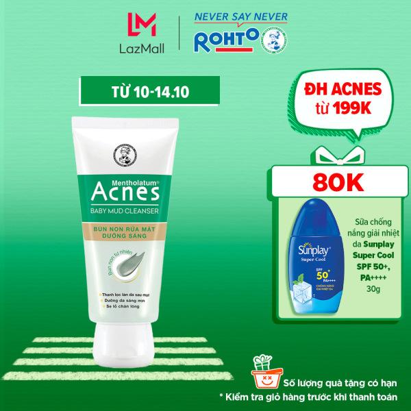 Bùn non rửa mặt dưỡng sáng Acnes Baby Mud Cleanser 100g giá rẻ