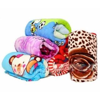 Chăn mền trẻ em bông tuyết nhung mền mịn hoạt hình cho bé trai và gái - Màu Ngẫu Nhiên( Kt 1mx1m2) thumbnail